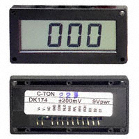 C-TON Industries - DK175 - VOLTMETER 2VDC LCD PANEL MOUNT
