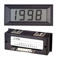 C-TON Industries - DK505 - VOLTMETER 20VDC LCD PANEL MOUNT