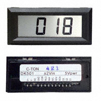 C-TON Industries - DK501 - VOLTMETER 2VDC LCD PANEL MOUNT
