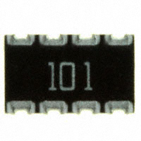 CTS Resistor Products - 744C083101JP - RES ARRAY 4 RES 100 OHM 2012