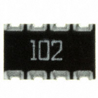 CTS Resistor Products - 744C083102JP - RES ARRAY 4 RES 1K OHM 2012