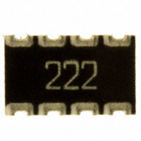 CTS Resistor Products - 744C083222JP - RES ARRAY 4 RES 2.2K OHM 2012