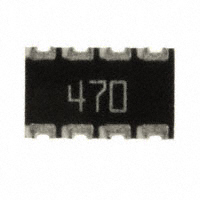 CTS Resistor Products - 744C083470JP - RES ARRAY 4 RES 47 OHM 2012