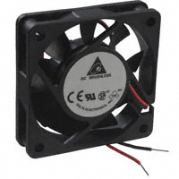 Delta Electronics - AFB0624HB - FAN AXIAL 60X15MM 24VDC WIRE
