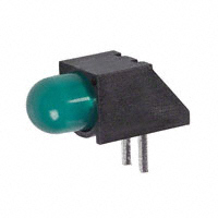 Dialight - 5500707F - LED 5MM 5V RT ANGLE GREEN PC MNT