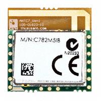 Dynastream Innovations Inc. - ANTC782M5IB - RF TXRX MOD ISM>1GHZ TRACE ANT