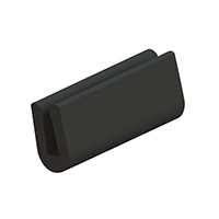 Essentra Components - RG-1 - GROM EDGE SOLID ELAST BLK 1=100'