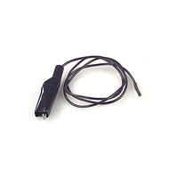 E-Z-Hook - 9172-24 BLK - PATCHCORD SQ SCKT-ALLIG CLIP BLK