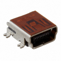 Amphenol FCI - 10033526-N3212MLF - CONN MINI USB RCPT RA TYPE B SMD