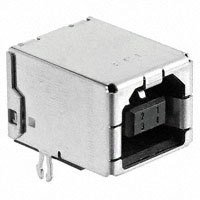Amphenol FCI - 61729-1011BLF - USB RCPT B-TYPE R/A FULL BACK