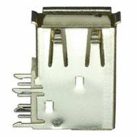 Amphenol FCI - 73725-0110BLF - CONN RCPT USB TYPE A FLAG PCB