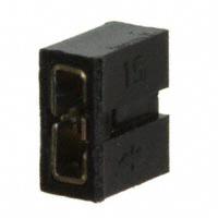 Amphenol FCI - 86730-101LF - CONN SHUNT 2MM 2POS GOLD BLACK
