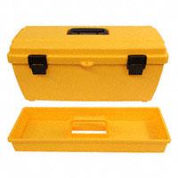 "Flambeau Inc. - 19804 - BOX PLSTC BLK/YEL 20.25""LX8.87""W"
