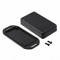 """Hammond Manufacturing - 1551JFLBK - BOX ABS BLACK 2.36""""L X 1.38""""W"""