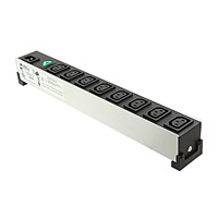 "Hammond Manufacturing - 1581H8 - POWER STRIP 17"" 10A 230VAC 8OUT"
