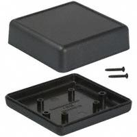 """Hammond Manufacturing - 1593JBK - BOX ABS BLACK 2.61""""L X 2.61""""W"""