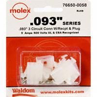 "Molex Connector Corporation - 76650-0058 - KIT CONN STD .093"" 3 CIRCUITS"