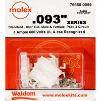 "Molex Connector Corporation - 76650-0059 - KIT CONN STD .093"" 4 CIRCUITS"