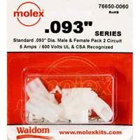 "Molex Connector Corporation - 76650-0060 - KIT CONN STD .093"" 2 CIRCUITS"