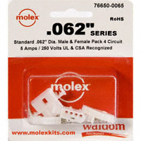 "Molex Connector Corporation - 76650-0065 - KIT CONN STD .062"" 4 CIRCUITS"