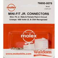 Molex Connector Corporation - 76650-0075 - KIT CONN MINI-FIT JR 4 CIRCUITS