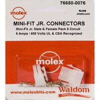 Molex Connector Corporation - 76650-0076 - KIT CONN MINI-FIT JR 6 CIRCUITS