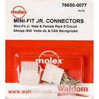 Molex Connector Corporation - 76650-0077 - KIT CONN MINI-FIT JR 8 CIRCUITS
