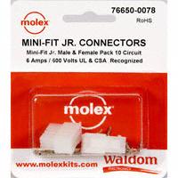 Molex Connector Corporation - 76650-0078 - KIT CONN MINI-FIT JR 10 CIRCUITS