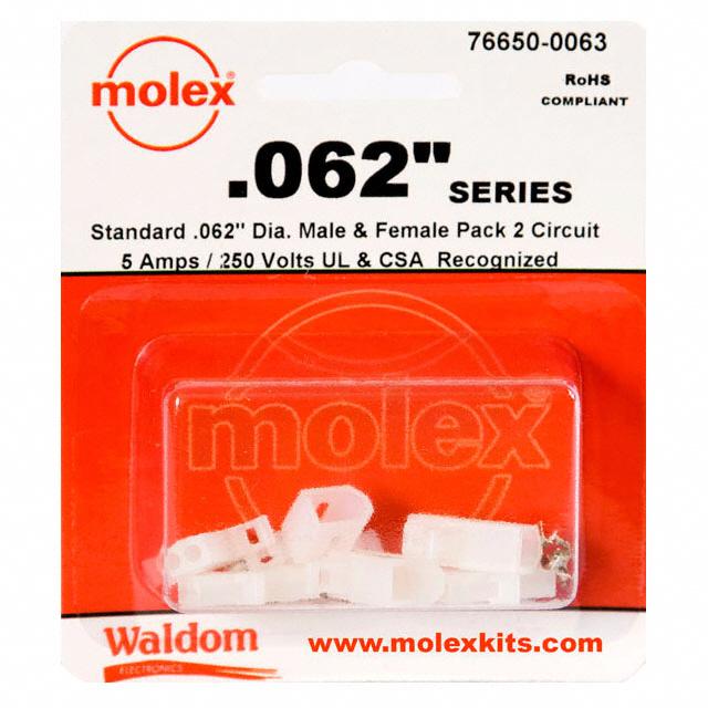 "Molex Connector Corporation - 76650-0063 - KIT CONN STD .062"" 2 CIRCUITS"