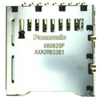 Panasonic Electric Works - AXA2R63361T - CONN SD CARD PUSH-PUSH R/A SMD