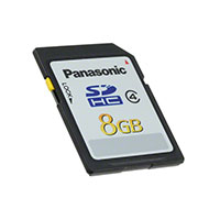 Panasonic Electronic Components - RP-SDMF08DA1 - MEMORY CARD SDHC 8GB CLASS 4 TLC