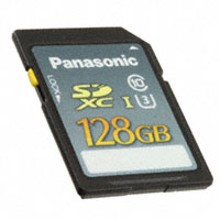 Panasonic Electronic Components - RP-SDUE12DA1 - MEMORY CARD SDXC 128GB CLS10 MLC