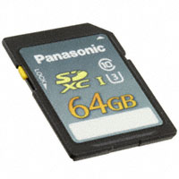 Panasonic Electronic Components - RP-SDUE64DA1 - MEM CARD SDXC 64GB CLS10 UHS MLC