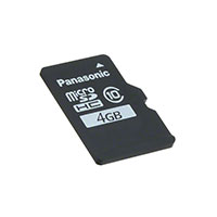 Panasonic Electronic Components - RP-SMLE04DA1 - MEM CARD MICROSDHC 4GB CLS10 MLC