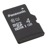 Panasonic Electronic Components - RP-SMPE04DA1 - MEM CARD MICROSDHC 4GB UHS PSLC