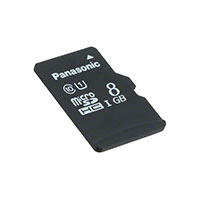 Panasonic Electronic Components - RP-SMPE08DA1 - MEM CARD MICROSDHC 8GB UHS PSLC