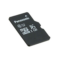 Panasonic Electronic Components - RP-SMPE16DA1 - MEM CARD MICROSDHC 16GB UHS PSLC