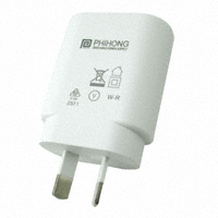 Phihong USA - PSM03S-050Q-3W-R - AC/DC WALL MOUNT ADAPTER 5V 3W