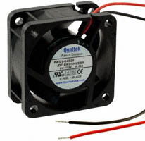 Qualtek - FAD1-04020BBHW11 - FAN AXIAL 40X20MM BALL 5VDC WIRE