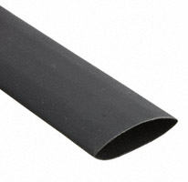 "Qualtek - Q2-F3X-3/4-01-MS50FT - HEATSHRINK POLY 3/4"" BLK 50'"
