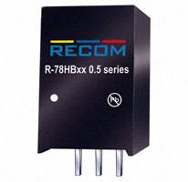Recom Power - R-78HB5.0-0.5 - CONV DC/DC 0.5A 5V OUT SIP VERT