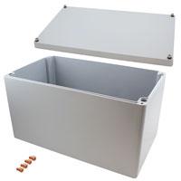 """Rose Enclosures - 012340230 - BOX ALUM GRAY 15.75""""L X 9.06""""W"""