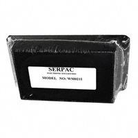 "Serpac - WM021I,BK - BOX ABS BLACK 4.1""L X 2.6""W"