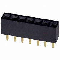 """Sullins Connector Solutions - PPPC071LFBN-RC - CONN HEADER FEMALE 7POS .1"""" GOLD"""