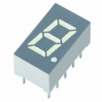 SunLED - XDUG06A - DISPLAY 8MM YELLOW 1DIGIT CA