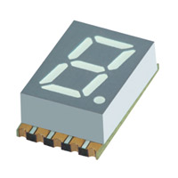 "SunLED - XZFMYK07C - DISPLAY 0.3"" 1DIGIT YLW CC SMD"
