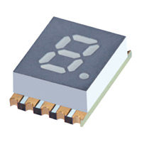 "SunLED - XZFVG05C - DISPLAY 0.2"" 1DIGIT GREEN CC SMD"