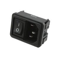 TE Connectivity Corcom Filters - 1609112-2 - PWR ENT MOD RCPT IEC320-C14 PNL