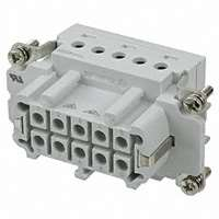 TE Connectivity AMP Connectors - 1-1103637-1 - INSERT FEMALE 10POS+1GND SCREW