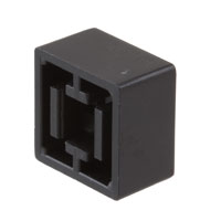 TE Connectivity ALCOSWITCH Switches - 1571384-4 - CAP KEYSWITCH SQUARE BLACK